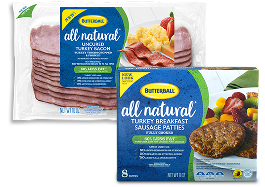 Butterball® All Natural Bacon and Breakfast Sausage Patties