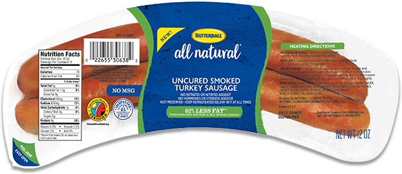 Butterball® All Natural Uncured Smoked Turkey Sausage