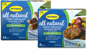 Butterball® All Natural Breakfast Sausage (link and patties)